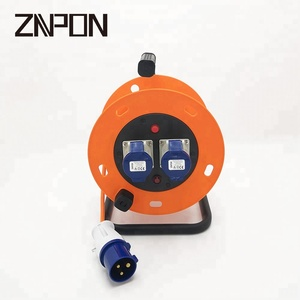 Industrial application 2 way 220V power cord reel