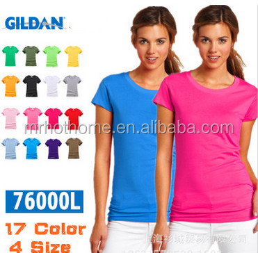 colorful Girls printed t shirts plain wholesale