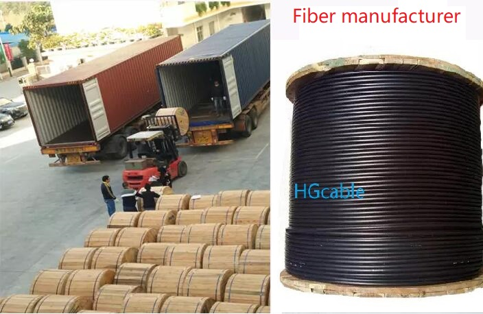 Steel Wire supported aerial outside flat 1 2 4 Core G652D GJXH Fiber Optic FTTH Drop Cable