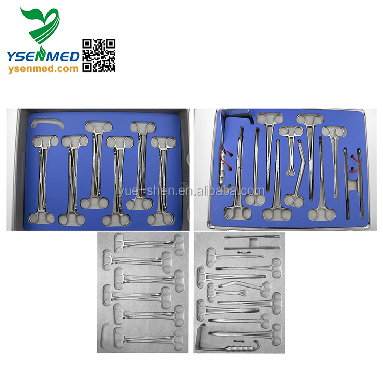 SSF-1 Good selling stainless steel caesarean instrument set laparotomy surgical instrument sets with low price