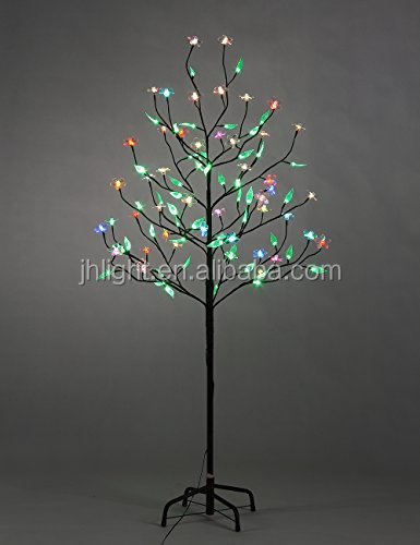 Colorful cherry blossom green leave LED tree light/Cherry blossom LED tree light for holiday indoor/outdoor decoration
