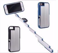 Wireless Selfie Extendable Stick cases cover For iphone 6/7/8 plus with holder stand & bluetooth remote