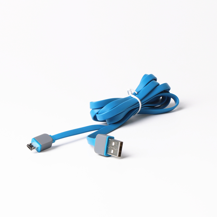 Charging and data transferring Flat usb cables for Micro B mobile phone