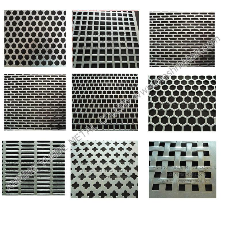 de aluminio perforado hoja de lat n de chapa perforada