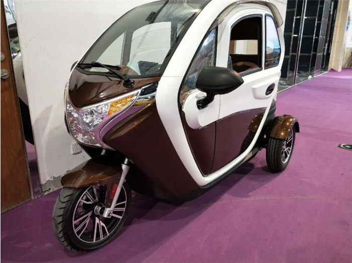 Enclosed 3 wheel scooters/small electric car/cabin scooter with 2 passenger seats for sale
