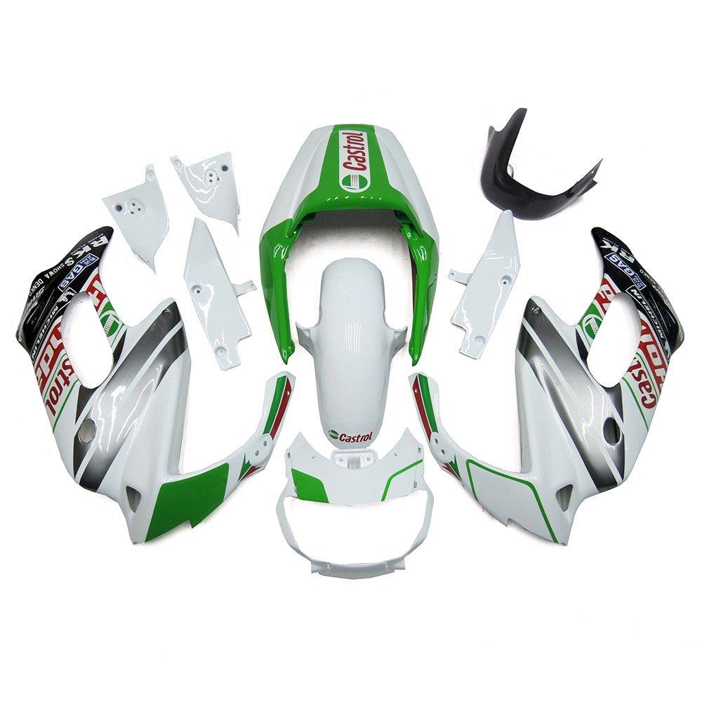 Sportfairings Castrol White Green ABS Body Kits Motorcycle Fairing Kits For Honda VTR1000F 97 - 05 Year 1997 1998 1999 2000 2001 2002 2003 2004 2005