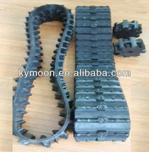 Kobelco excavator rubber track,rubber belt