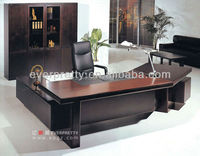 Modern Executive Office Desk Office Furniture, Executive Wooden Office Desk, Beech Color Melamine Faced Board Executive Desk