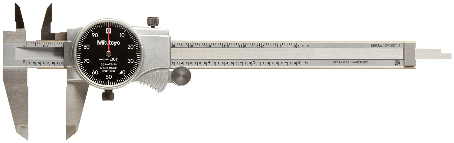 0-6 Range +//-0.001 Accuracy Depth and Step Measurements 40mm Jaw Depth for Inside Inch Stainless Steel White Face Outside Mitutoyo 505-689 Dial Calipers 0.001 Resolution