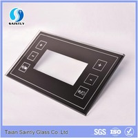 glass manufacturer high quality 2mm 3mm 4mm glass touch switch panel