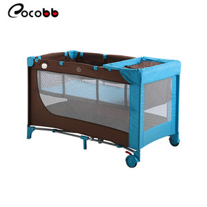 Online wholesale cheap simple metal frame adult baby crib cot