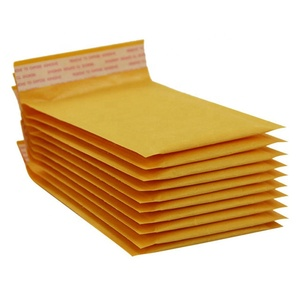 Custom Logo Printed Self Adhesive Yellow Mailers Shipping Poly Bubble Bags Padded Envelopes