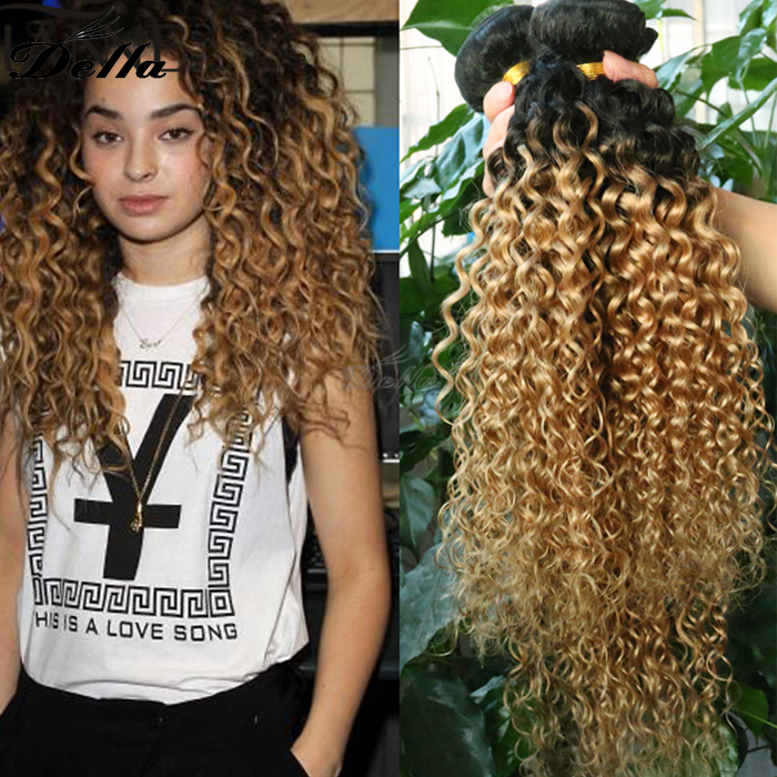 Human Hair Blonde Kinky Curly Hair Weave Buy Blonde Kinky Curly