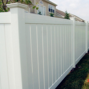 U.S. ASTM Certified White Vinyl Privacy Fence Panel pvc fence