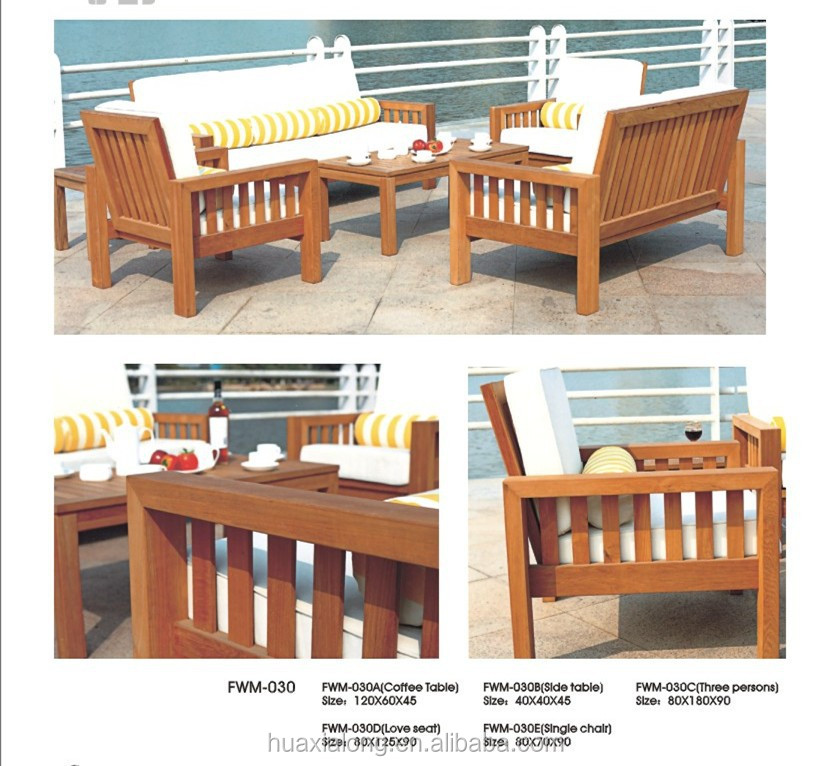New design solid wood frame wooden sofa set teak wood for Wood furniture design sofa set