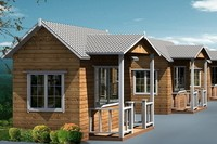 Hot selling wood house thailand wood frame house prefabricated house for france