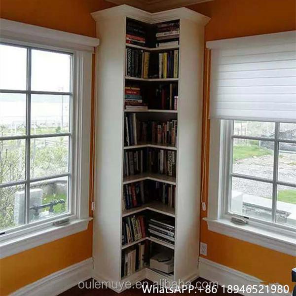 eenvoudige hoek boekenkast hout boekenkast eiken hoek boekenkast