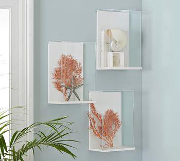 Clear Acrylic Shadow Box Frame Plexiglass Wall Mount Display Cube