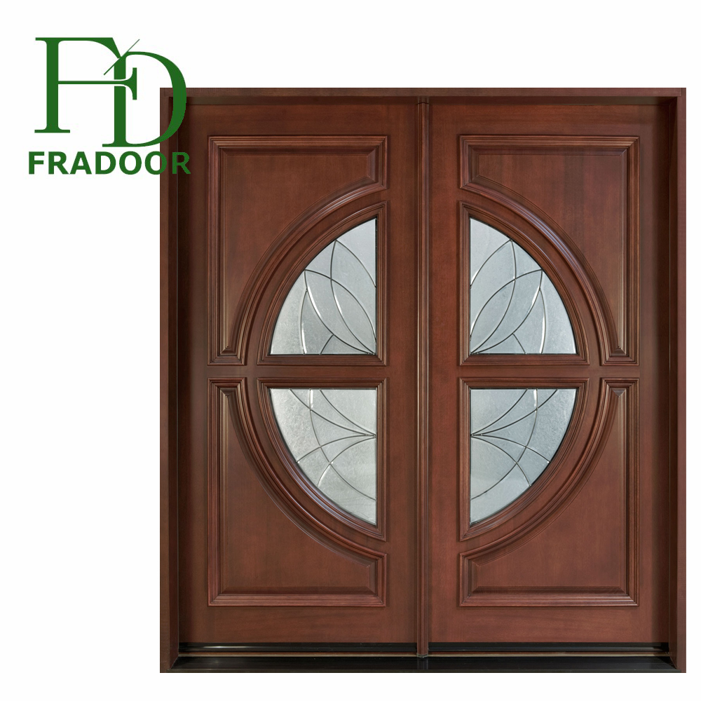 High quality Solid wood polish pure wooden door