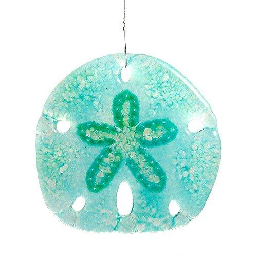 Modern Artisans Sand Dollar Fused Glass Sun Catcher, Handmade in USA