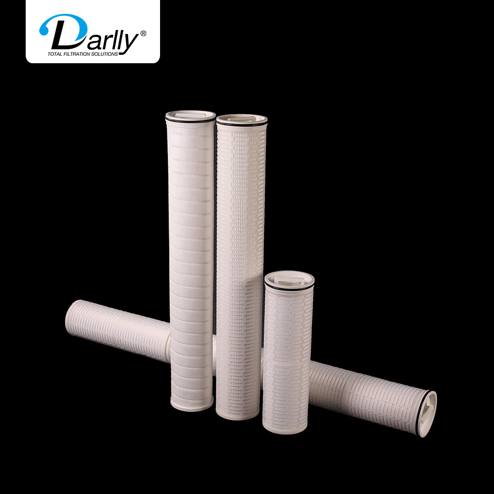 HF Series High Flow Pleated Filter Cartridge replace PALL dirt holding capacity large <strong>filtration</strong> area