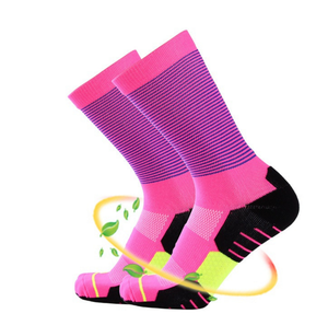 Hight quality vivid color compression 3/4 length socks 3 pairs 100% organic cotton socks for boy sports 200n crossfit socks