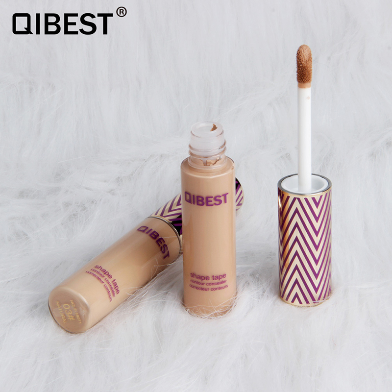 Qibest5-colors the eyedropper foundation liquid Whitening covers spots Moisturizer Waterproof moisturizes concealer