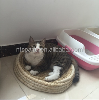 Good Quality Round Hand Woven Cat Mat Wholesale Great Ideas