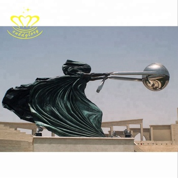 Famous Metal Sculpture New product Life Size Bronze The World is Yours Statue for garden home decor