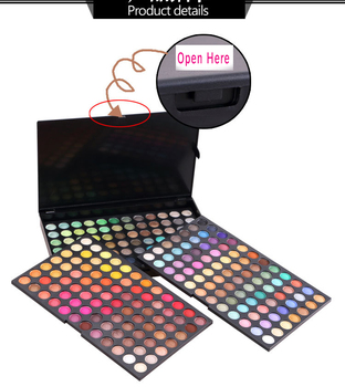 oem high quality 252 Colors fashion eye makeup eyeshadow palette