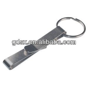 China Dongguan factory price hot sale lock spring clip,Metal Belt Clip with Key Ring,flat metal spring clips