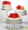 Round Acrylic Cake Display Stand