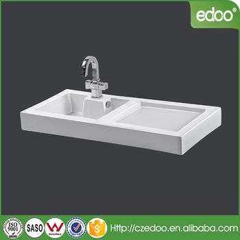 Portugal Design Rectangle Shape Bathroom Single Hole Hand Wash Cabinet Basin Restaurant Kitchen Vanity Sink Outdoor Sinks
