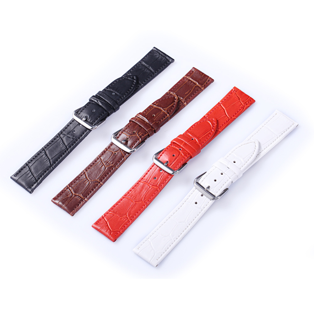 Directly Factory Offer Fashion Comfortable Soft Strap Genuine Leather Watch Band For All Kinds Of Watches
