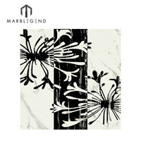 Decoration Artificial Marble Waterjet Medallion Inlay Tiles Design