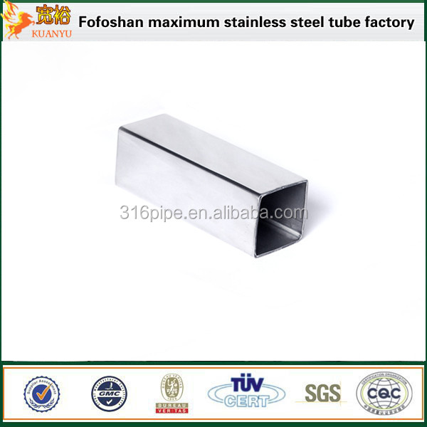 Aisi 304 Factory Price Stainless Steel Square Pipes With Long-term Service