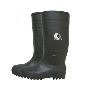 PVC work boot men, steel toe working boots for men