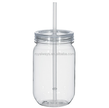 f62f1b86171a 16oz,20oz,24oz,32oz Plastic Mason Jar Tumbler With Or Without Handle - Buy  Plastic Mason Jar,Plastic Mason Jar Tumbler,Bpa Free Mason Jar Product on  ...