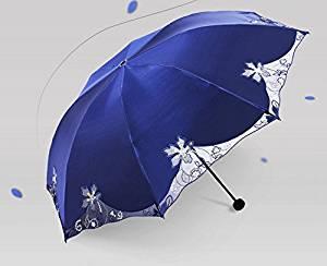 feb53453c6a7 Buy Double-sided Embroidery Wave Edge Anti-UV Sun Umbrella Triple ...
