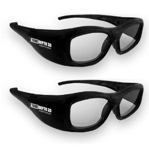 True Depth 3D® RECHARGEABLE Glasses for Panasonic 3D TVs! Compatible with Infrared and Bluetooth! (2 Pairs)