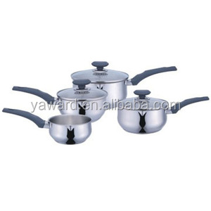 7-PC S/S Cookware Set, China Wholesale Custom Cookware Sets Induction Bottom