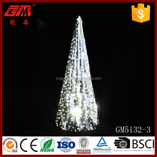 Europe popular spray sliver glass blow tree crafts with led light