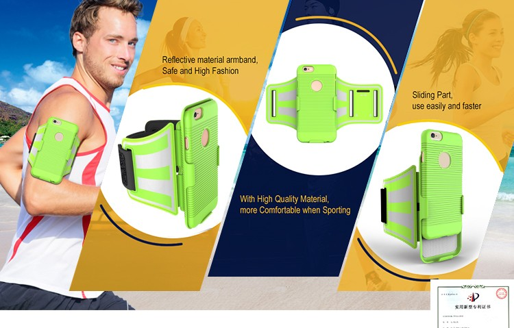 New Patented Product Spring Sport Jogging Armband Case for iPhone 6
