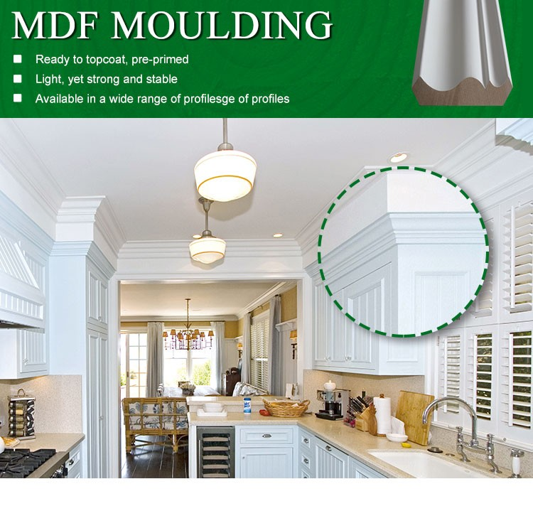 Primed Skirting Mouldings Cornice Mdf Decorative Moulding For Exterior Wall  - Buy Primed Skirting,Mouldings Cornice Mdf,Decorative Moulding For