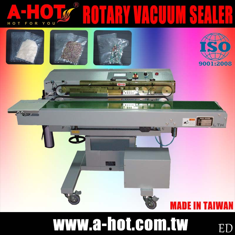 Gas Extrusion Plastic Bag Horizontal Nozzle Vacuum Band Rotary Sealer
