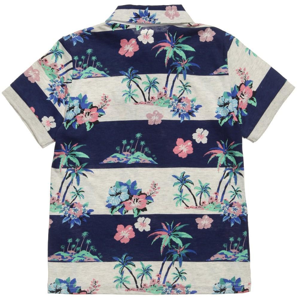 Jungen Gestreiften Ganzen Hawaiian Drucken Polo T- Shirt,Hawaiian ...
