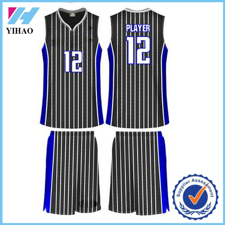 Yihao high quality mens 100% polyester basketball jersey cheap wholesale boys dry fit basketball wear apparel