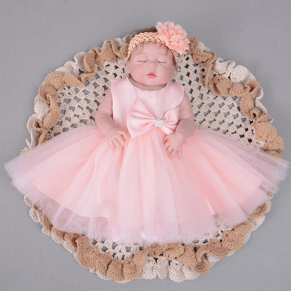 ac641b78a Wholesale Child Clothes Baby Girl Baptism Dress Sweet Girl Rhinestone Tulle  Princess Cute Dress