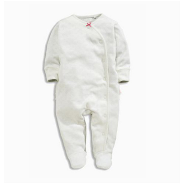 CE Certificate all white baby one piece outfits new born baby organic cotton one piece outfit