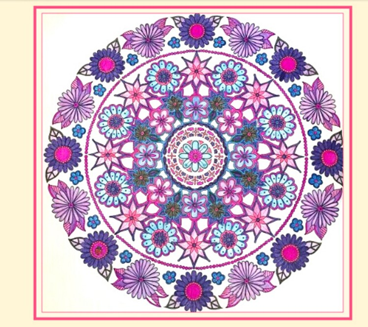 Custom adult wholesale magic mandala coloring books Coloring books for adults wholesale